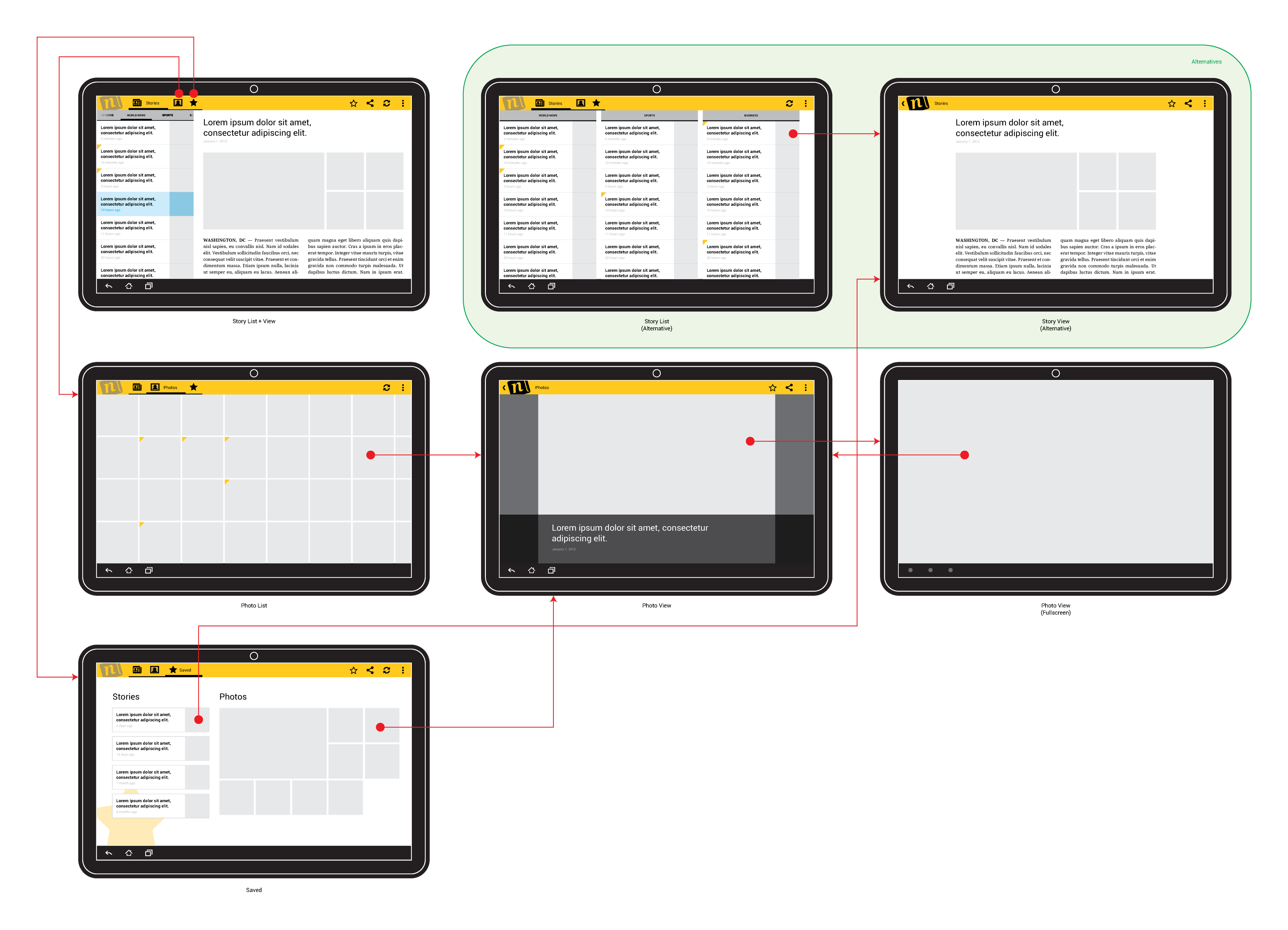 Putting it All Together: Wireframing the Example App